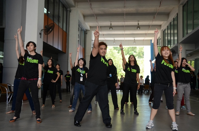 Flash mob in action at the opening ceremony