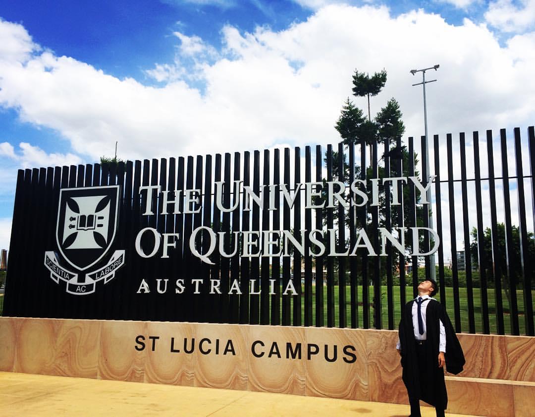 Graduating from University of Queensland
