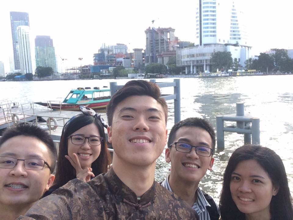IMU Alumnus Cedric  and friends