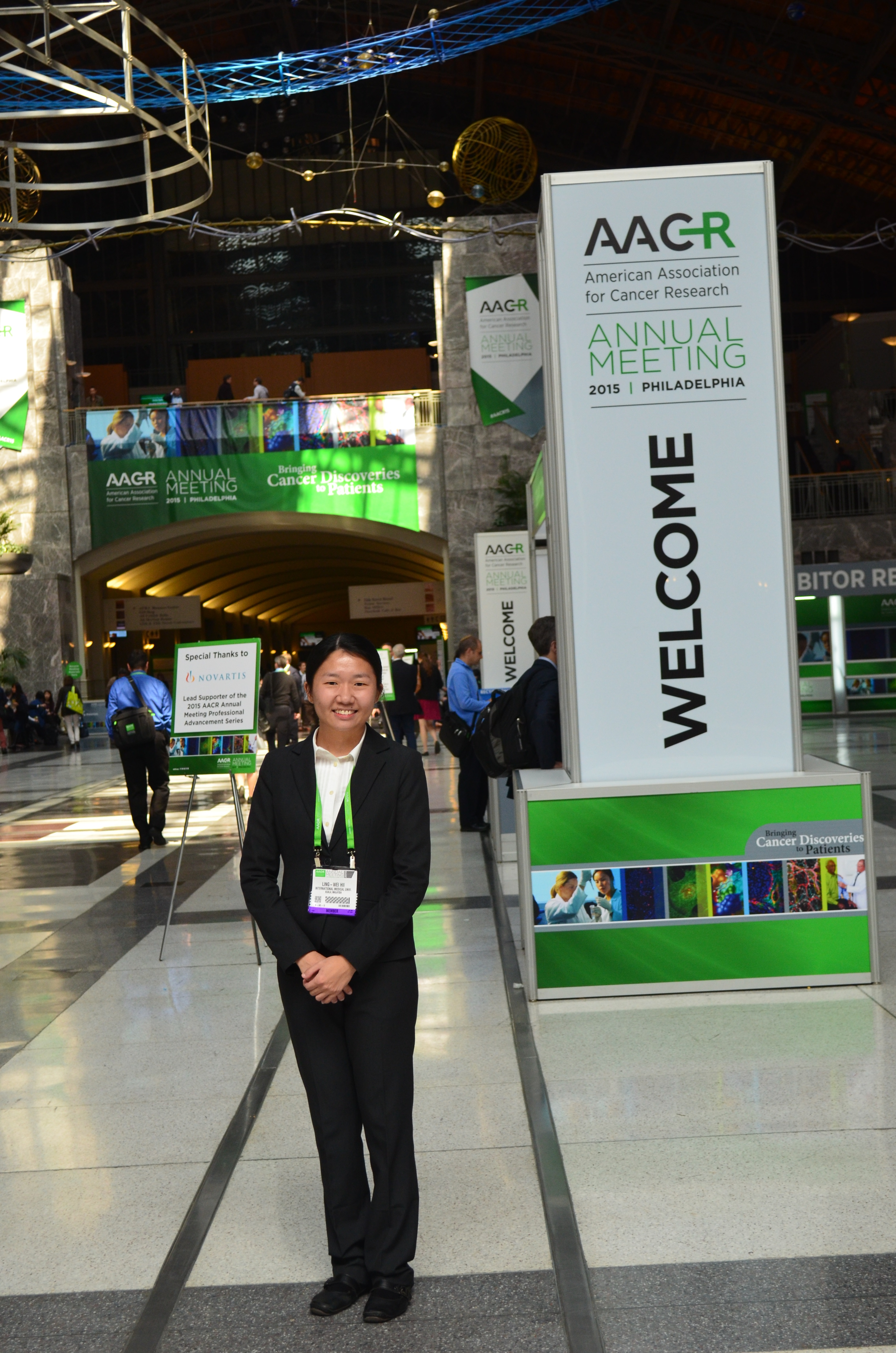 IMU Alumnus Ling Wei at AACR Meeting