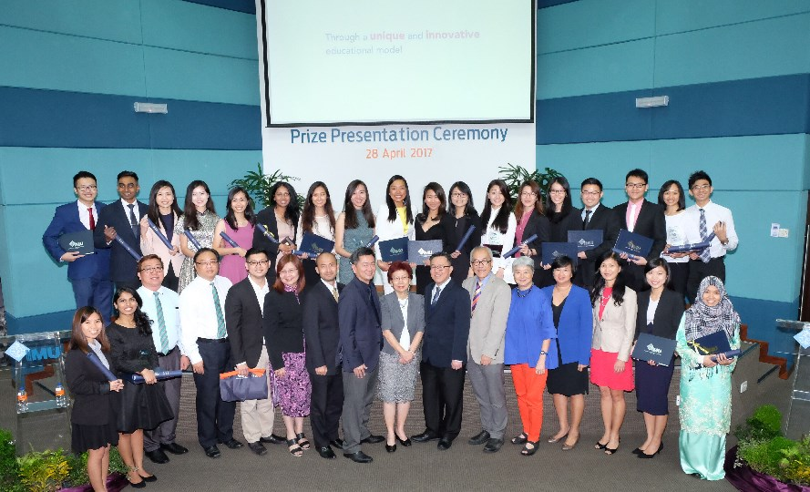 Top Students at Prize Presentation Ceremony