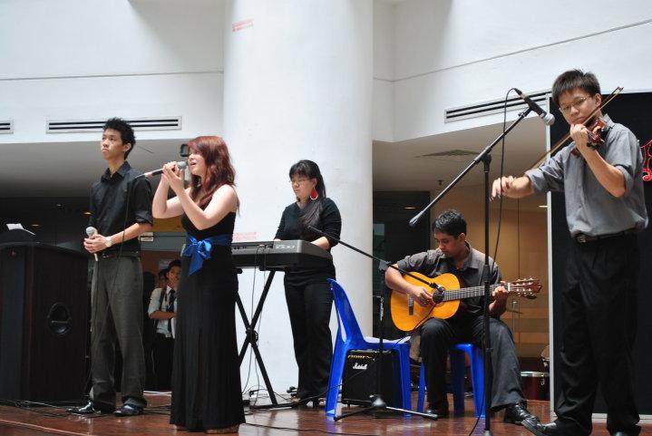 IMU Alumnus performing at IMU