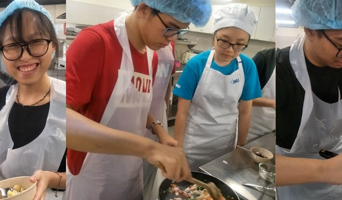 IMU Foundation in Science students at a cooking competition