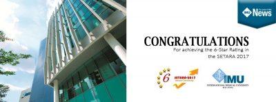 IMU Awarded 6 stars for Setara 2017