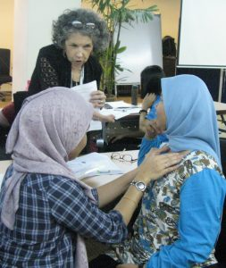 Learning Nutrition-Focused Physical Examination (NFPE) skills at a workshop at IMU