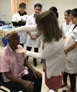 Learning Nutrition-Focused Physical Examination (NFPE) skills at IMU's Clinical Skills and Simulation Centre
