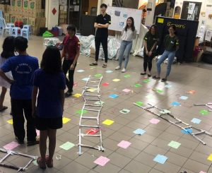 IMU conducted games like Human snake and ladders at Rumah Charis