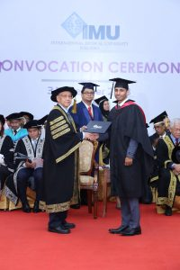 IMU Alumnus, PG Lingeshan at his convocation ceremony
