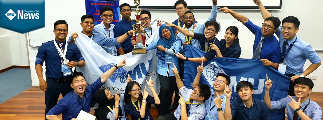 IMU's winning teams at the Intervarsity Clinical Emergency Quiz Competition 2019