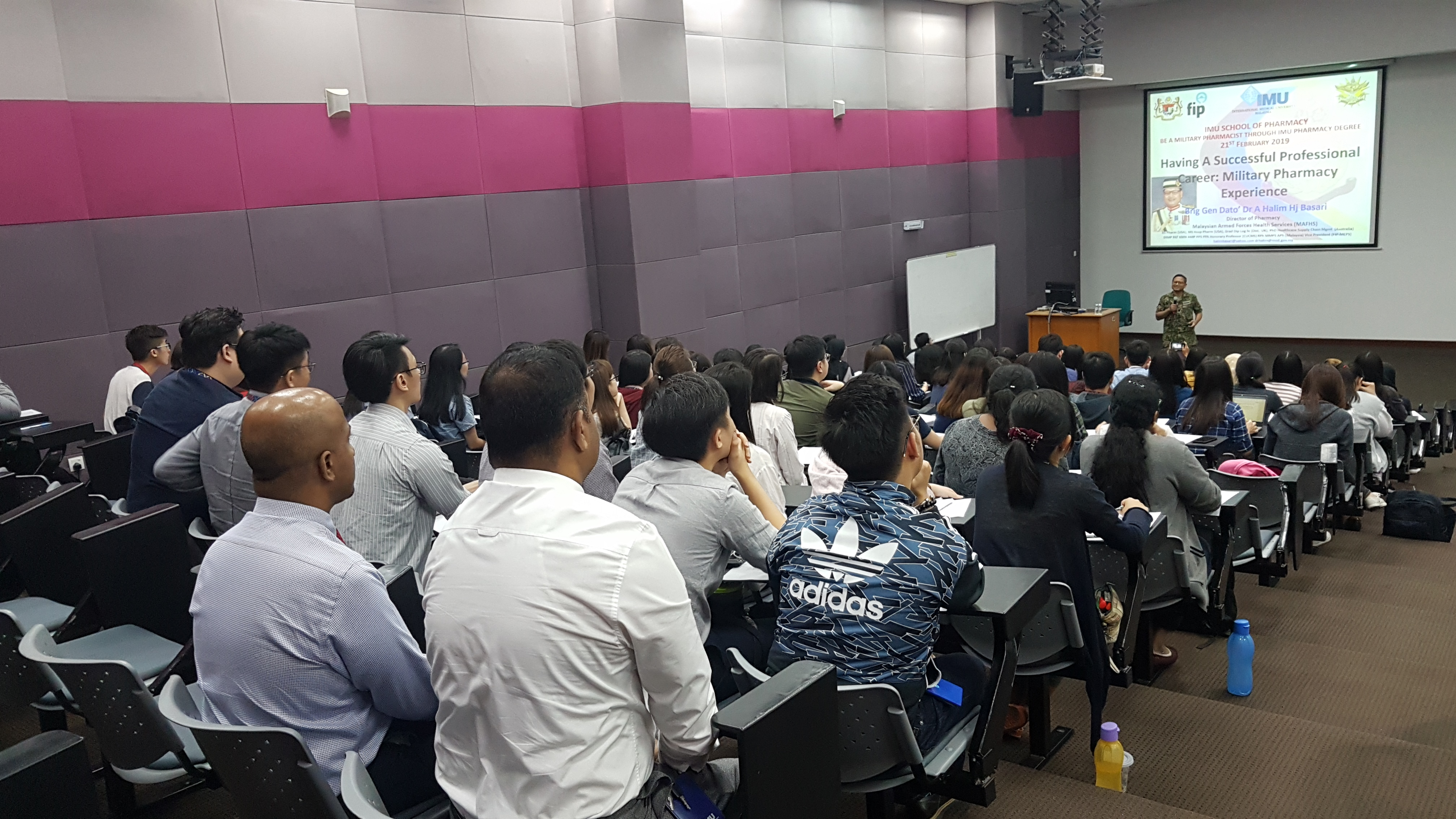 Sharing session at IMU on a career as a military pharmacist