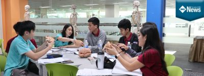 Students attending a preparatory workshop for Malaysian Brain Bee Challenge at IMU's Medical Museum