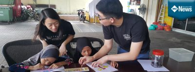 IMU Students with A Passion to Teach and Care for Children at Rumah Titian Kaseh