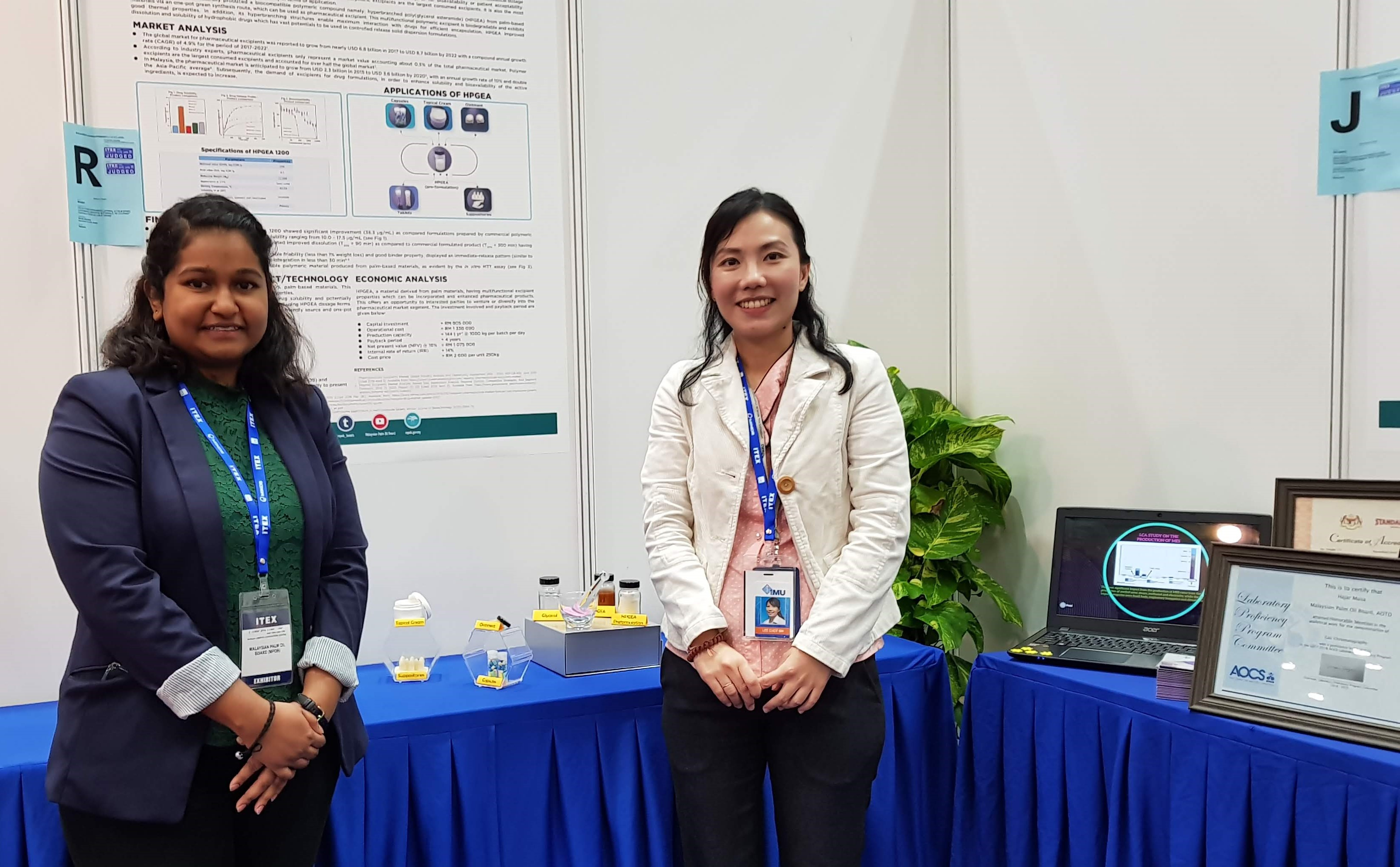 A collaborative research between IMU and Malaysian Palm Oil Board won a silver medal under the category of 'Medical and Health' at ITEX 2019.