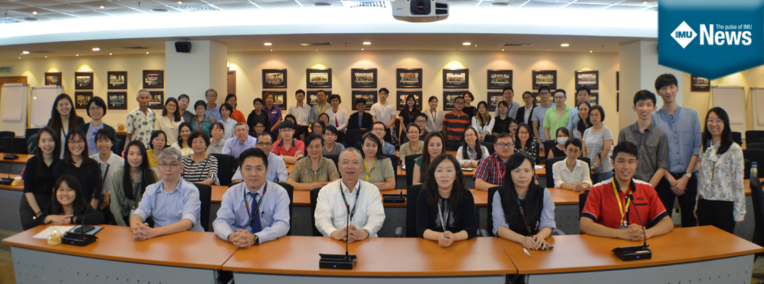 """85 participants attended a two-hour public talk on """"Clinical Anatomy of Dangerous Acupuncture Points"""" at IMU."""