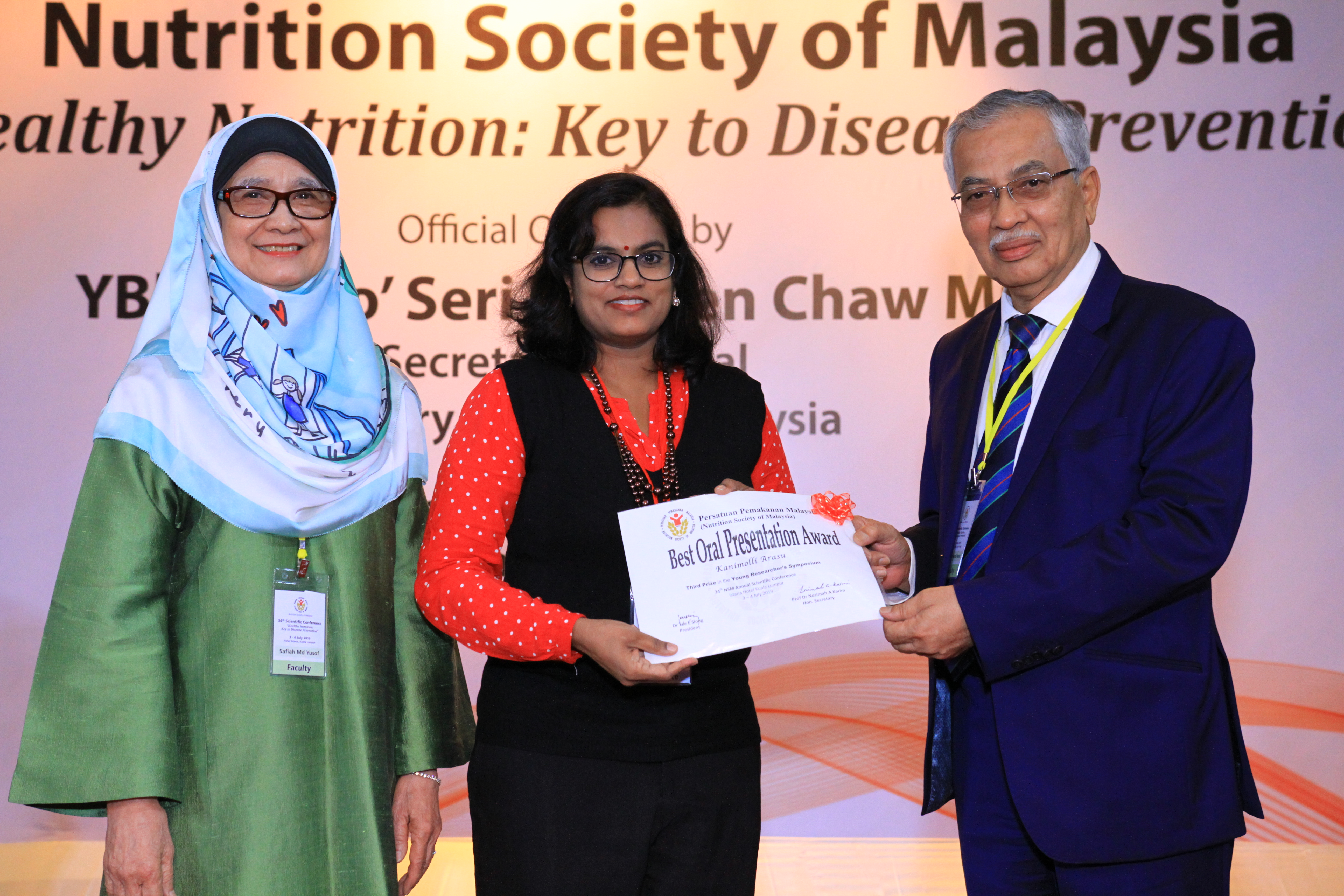 IMU faculty and students' success at the 34th Nutrition Society Malaysia Conference.