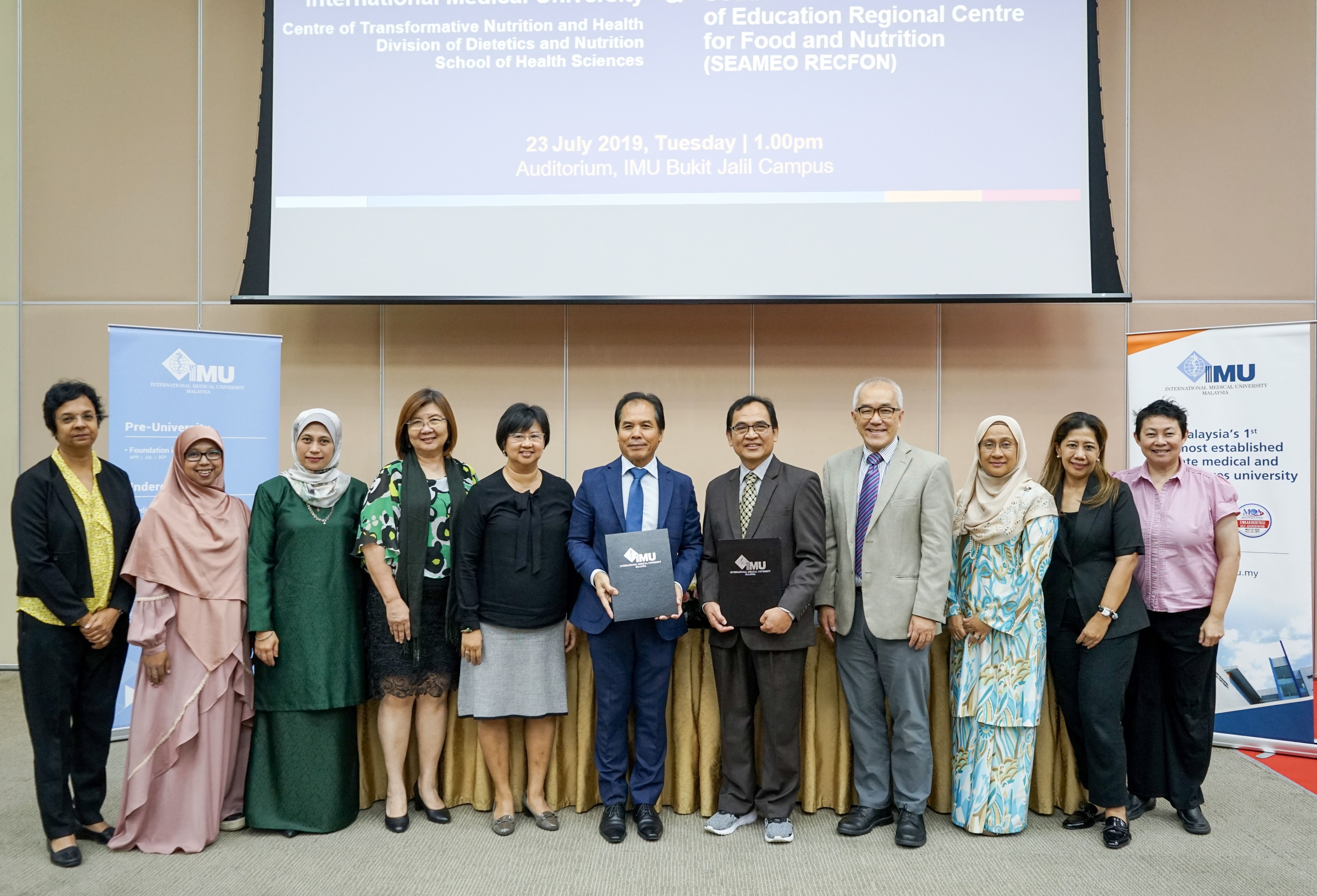 A collaboration between IMU and SEAMEO RECFON in health and medical research on nutrition and food safety training in Southeast Asia.