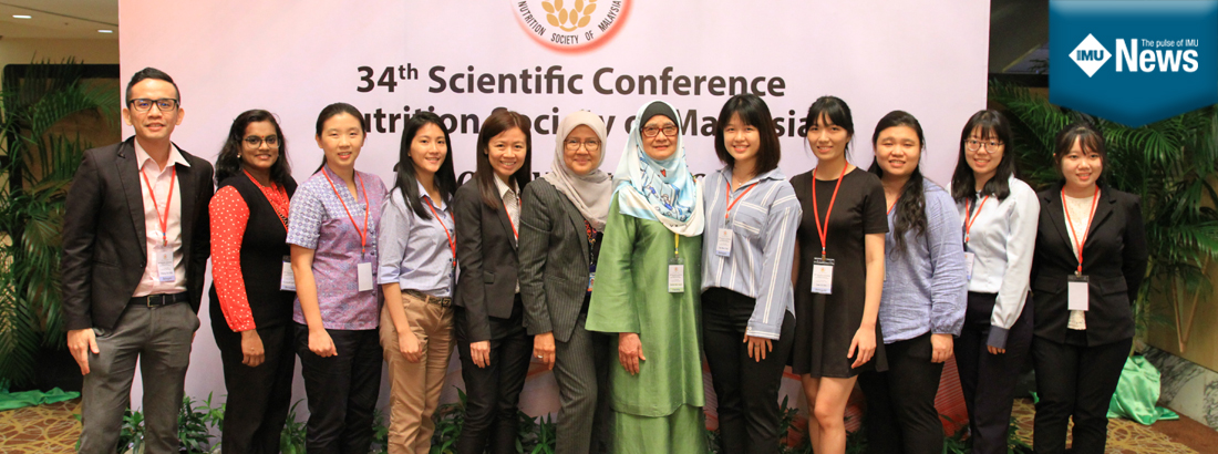 IMU faculty and students' success at the 34th Nutrition Society Malaysia Conference