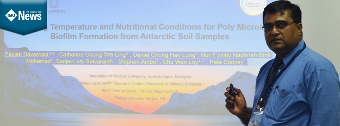 An oral presentation by an IMU Faculty on Antarctic soil bacterial research