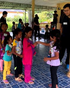 Activities by IMU Student Ambassadors at Kampung Ulu Chemperuh in Janda Baik, Pahang.