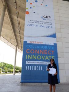 IMU Postgraduate Student's experience attending the 2019 Controlled Release Society Annual Meeting & Exposition in Spain.