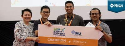 IMU's Science Discovery Challenge which made science competitive yet fun for the students.