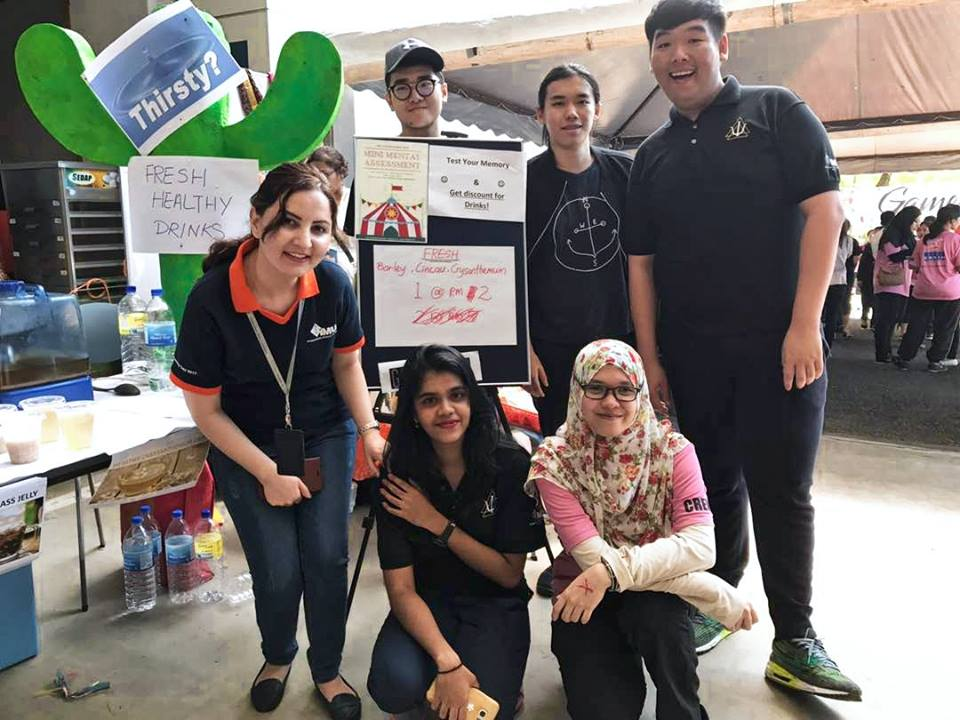 An IMU faculty member's involvement with the community via IMU Cares.