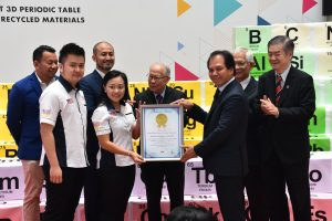 Largest 3D periodic table made from recycled materials puts IMU in the Malaysia Book of Records at the launch of the Pharmaceutical Chemistry Week.
