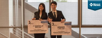 2 IMU dental students share their experience presenting at the Scientific Research Competition.