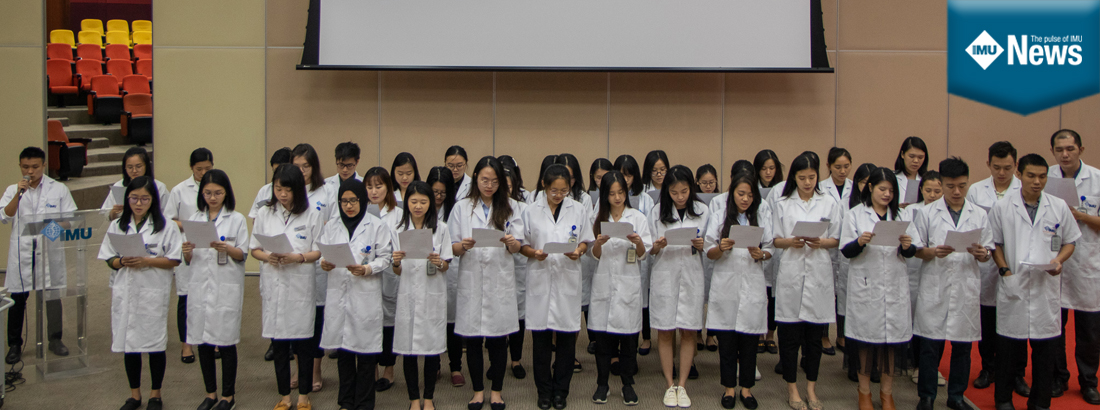 A ceremony for the IMU Dietetics with Nutrition students to signify the start of clinical attachment and also their journey as healthcare professionals.