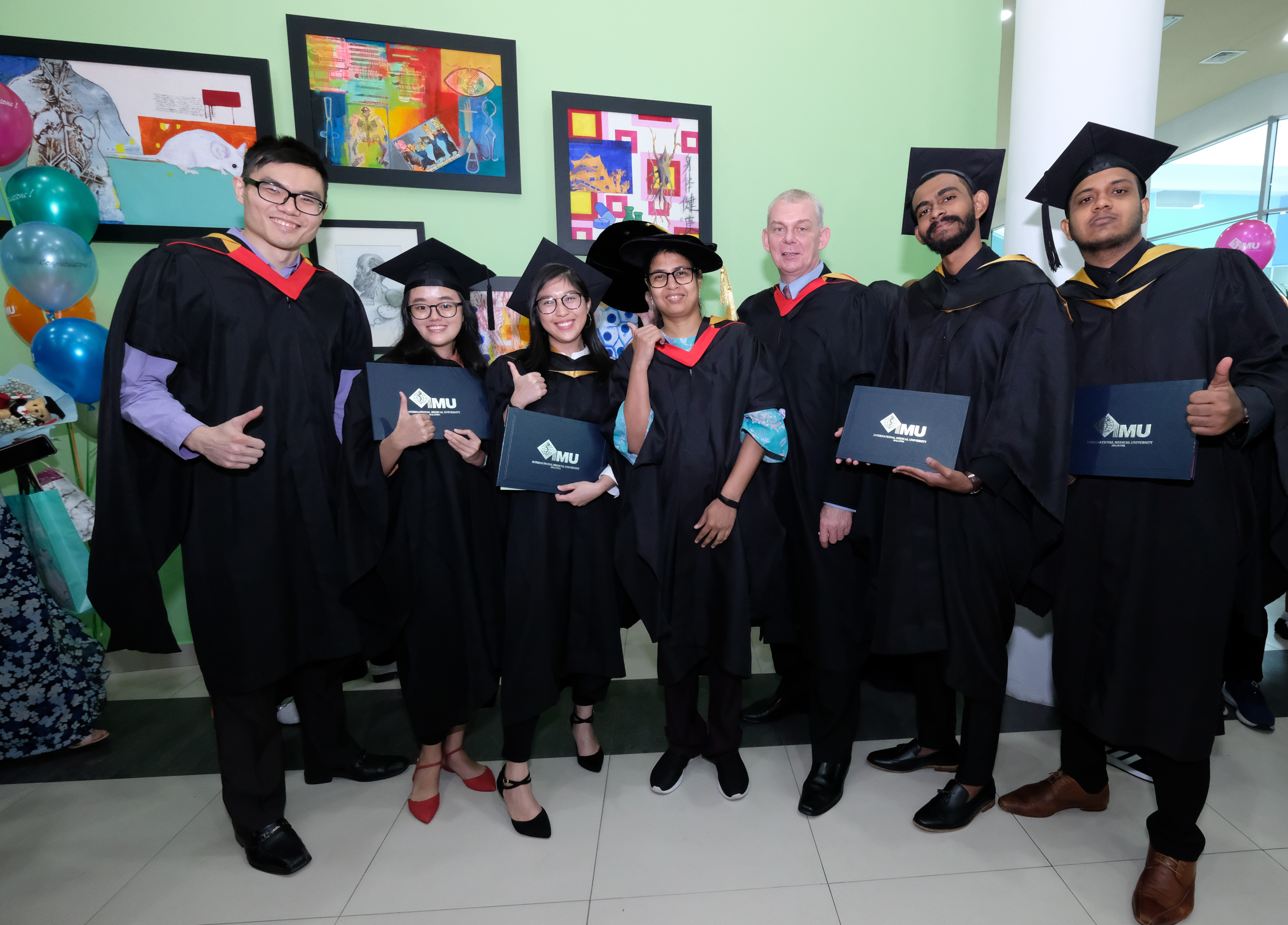 8 made history at this convocation as IMU's first cohort to receive the Postgraduate Certificate of Business Administration in Healthcare Management.