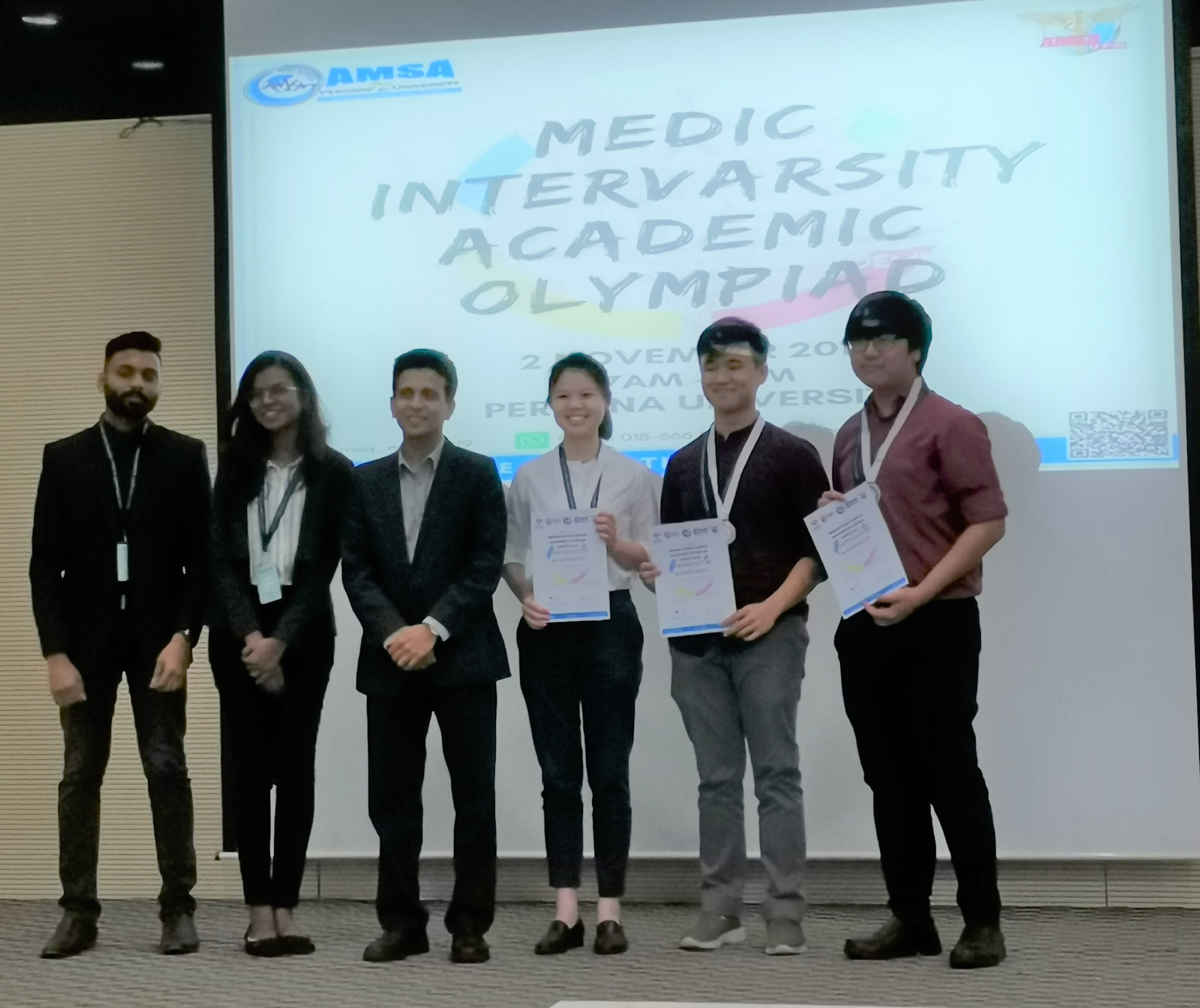 3 IMU medical students competed in the Anatomy viva and OSCE competitions of the Medics Intervarsity Academic Olympiad (MIAO) 2019 and won the second prize.