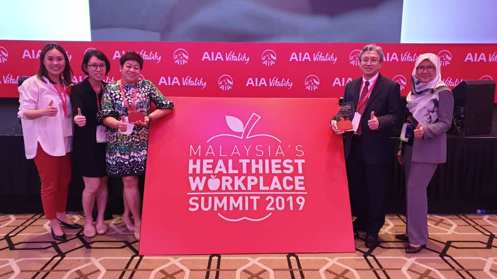 """he International Medical University (IMU) once again won two (2) awards under the """"2019 Malaysia's Healthiest Workplace"""" by AIA Vitality. The awards received were the """"Healthiest Workplace"""" and """"Healthiest Employer"""" and for medium sized organisation category."""