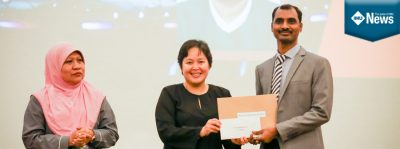 Second Prize for an IMU School of Pharmacy's lecturer's Oral Presentation.