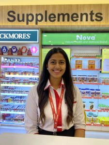 An IMU alumna, Raanita Krishnamoorthy, shares her experience working as a nutritionist in a pharmacy.