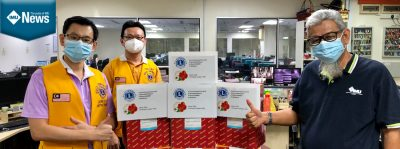 Donation to IMU's IRDI from Lions Club KL City to resolve some of the reagents shortage issue.