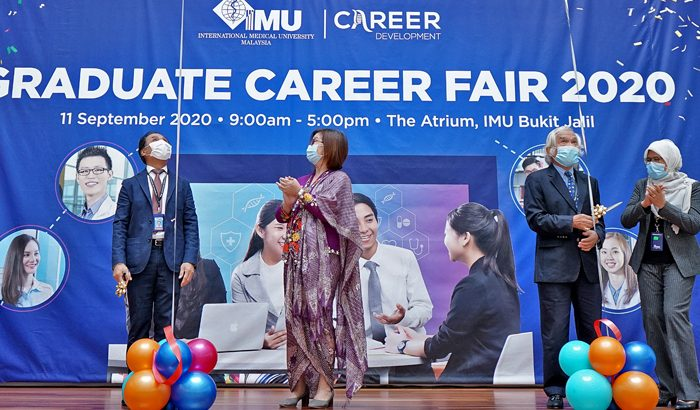 A synchronised version of IMU Graduate Career Fair 2020 - face to face, virtual platform